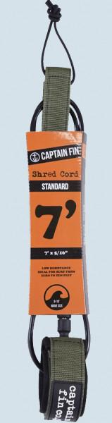 Captain Fin Shred Cord Standard Leash 7ft