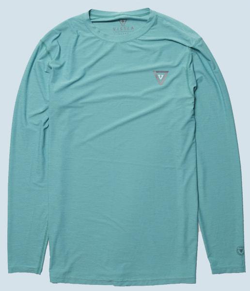 Vissla Twisted L/S Surf Shirt (jade heather)
