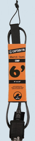 Captain Fin Shred Cord Comp Leash 6ft