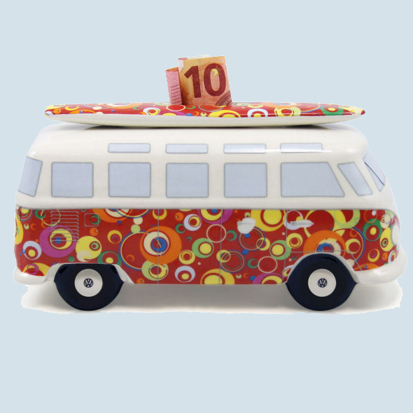 VW Bus Spardose Bubbles