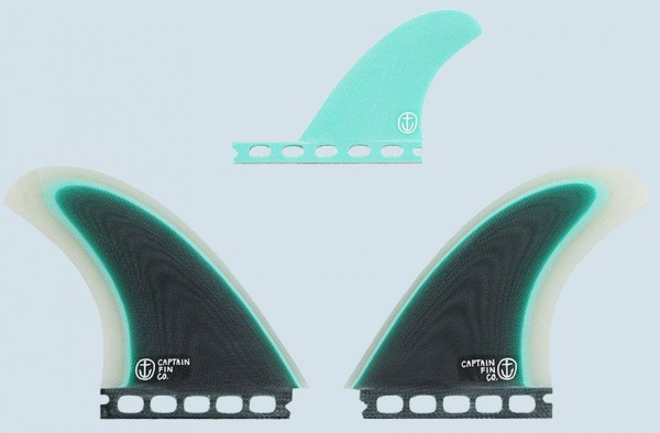 Captain Fin CF-Twin Especial 2+1 Fin Set (Single Tab)