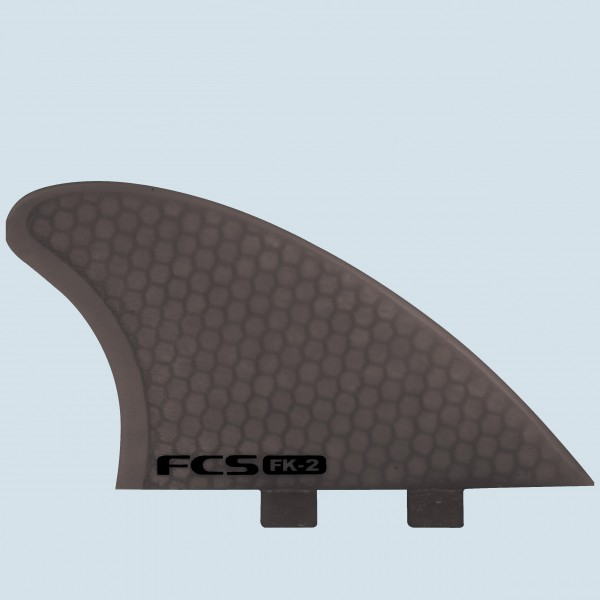 FCS FK-2 PC Fish Keel Smoke Twin Fin Set