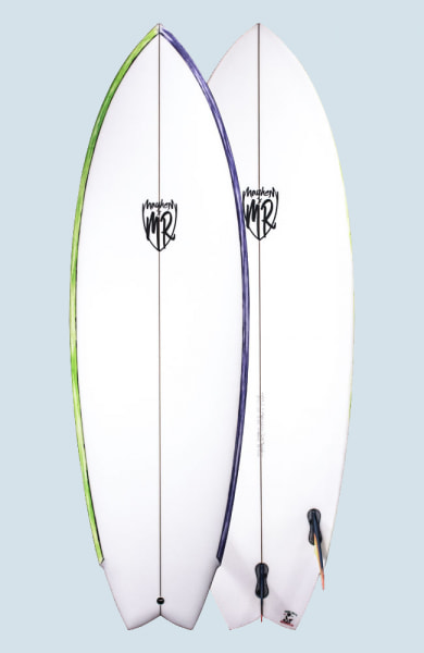 Lost California Twin (FCS II 2+1 with coloured Rails)