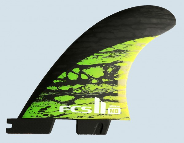FCS II MB PC Carbon Medium Tri Fin Set