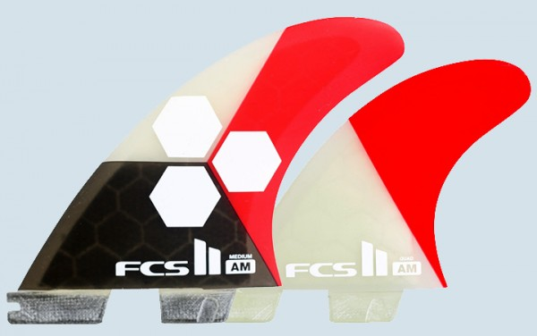 FCS II AM PC Medium Tri Quad Fin Set