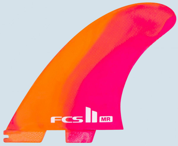 FCS II MR PC XL Twin+1 Fin Set (neon)