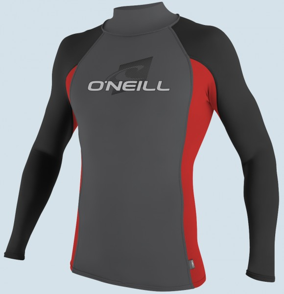 O'Neill Turtleneck L/S Lycra (smoke/red/black)