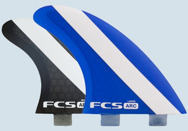 FCS ARC PC Large Tri Quad Fin Set