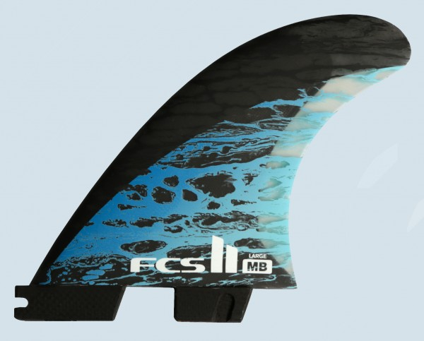 FCS II MB PC Carbon Large Tri Quad Fin Set