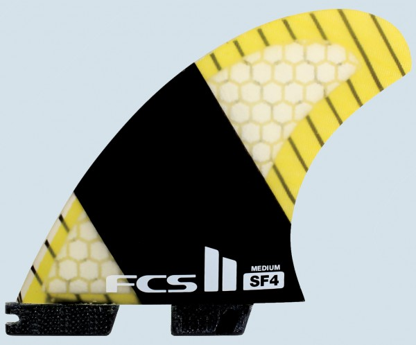 FCS II WR PC Carbon Large Tri Quad Fin Set